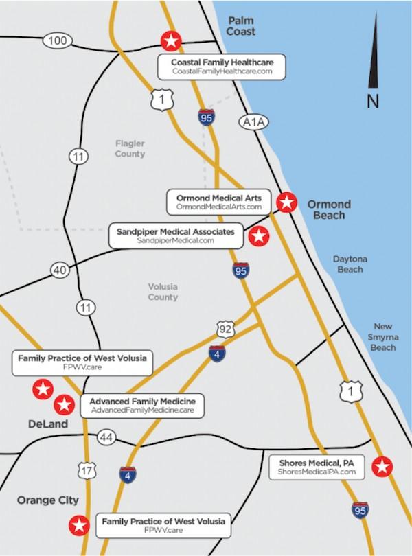 Florida Medicare Physicians Location Map